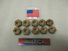 12 13 Extra Heavy Duty Hex Brass Nuts Right Hand New Usa 10 Pcs
