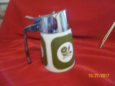 VTG.60's HENRY KECK STARLINE DRIPCUT SERVER Avocado Green  MORNING GLORY Pattern