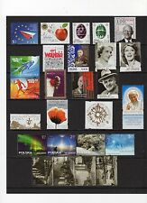 Poland 2014 Complete Year Set - 63 Stamps and 17 Souvenir Sheets, Mint NH Deluxe