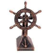 Bronze Metal Ships Helm Ship Wheel Miniature Replica Die Cast Pencil Sharpener