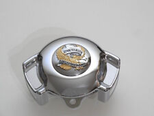 Harley Davidson Live To Ride Gold Hupe Hupenabdeckung Airwing Horn Cover chrom