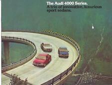 Audi - 1981 Audi 4000 Series 8 Page Pamphlet or Brochure