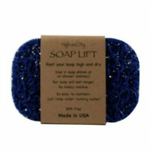 ROYAL BLUE SOAP LIFT SOAP DISH, THE BEST WAY TO KEEP YOUR SOAP FREE OF MUCK -NEW