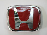 GENUINE HONDA TYPE R BADGE EMBLEM RED H GRILL 95mm x 77mm 75700-SNW-003ZC