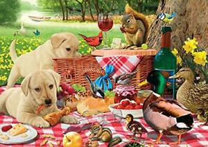 Buffalo Games - Adorable Animals - Picnic Raiders - 300 Large Piece Jigsaw Puzzl