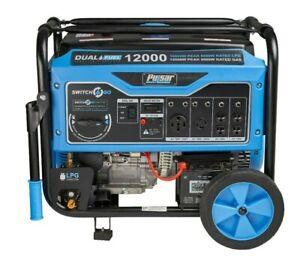 Pulsar 12,000W Dual Fuel Portable Generator Electric Start Camping RV NEW