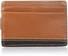 Buxton Men's Monroe RFID Blocking Front Pocket Money Clip Slim Wallet - Cognac