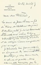 Vincent AURIOL - Lettre autographe signée avec dessin original.