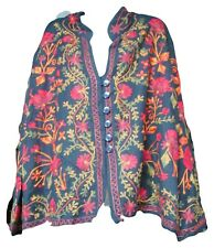 Vermont Country Store Womens Embroidered Long Sleeve Jacket Size 3X