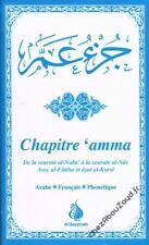 Chapitre 'Amma Bleu arabe français phonétique livre islam - NEUF