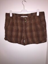 New Look Ladies Shorts Size 12 Brown 3 Button <JJ31