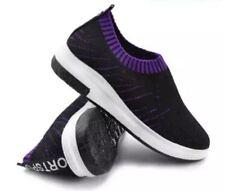 Tanggo Nettie Fashion Shoes Women Korean Sneakers Slip-On BLACK/VIOLET SIZE 38