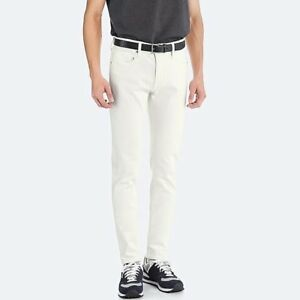UNIQLO Men's ULTRA Stretch Super Skinny-Fit Jeans WHITE Denim 30x34 Pants *NWT*