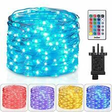 Homestarry Fairy Lights 10m 100 LEDs Plug in Multi Colors Change Remote String