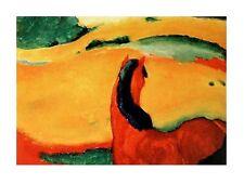 Franz Marc Pferd in Landschaft Poster Kunstdruck Bild 60x80cm