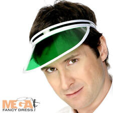 Green Poker Sun Visor Mens Pub Golf Casino Tennis Fancy Dress Sports Costume Hat