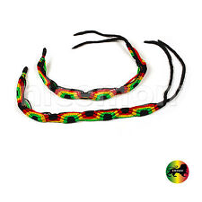 Lot Of 2 Love Rasta Wrist Bracelet Surfer Hawaii Negril Reggae Marley Jamaica 9""