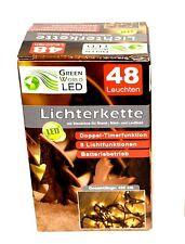 LED Lichterkette Batterie mit Timer & Blink Warmweiß Batteriebetrieben Lichter