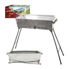 Grill 'lux' Barbecue Mangal Picknick Kohlebecken Schaschlik