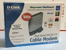 D-Link DCM-202 DOCSIS 2.0 USB/Ethernet Cable Modem Updated For Cable Networks