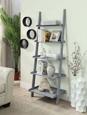 American Heritage Bookshelf Ladder 8043391Gy, Gray Finish