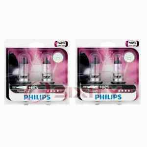 2 pc Philips High Low Beam Headlight Bulbs for Jeep Compass Gladiator cm