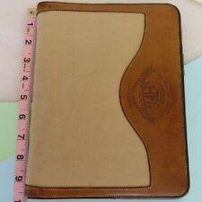 Vintage ~ GHURKA Marley Hodgson Canvas Leather Notepad/ Wire Binder/ Portfolio