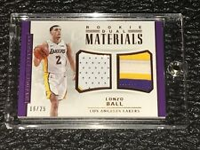 LONZO BALL National Treasures 2017-18 ROOKIE Dual Materials /25 BRONZE 3C PATCH