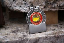 The Masters Member's Red Trim Personalized Money Clip - Free Engraving