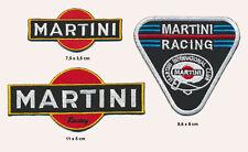 MARTINI Aufnäher Aufbügler Patches 3 Stück Racing Team Motorsport Formel 1 F1 v2