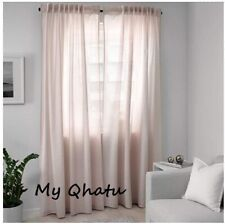 "IKEA Hannalill Curtains 1 Pair (2 panels ) Light Pink 57 x 98""  NEW"