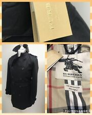 New Men's Burberry Kensington Trench Coat.Black.sz 48(M).£1490. Small Defect