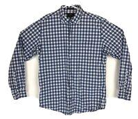Rodd & Gunn Blue White Check Button Down Shirt Italy Woven Sports Fit Size M