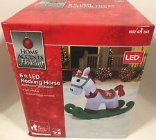 6Ft Airblown Inflatable LED Rocking Horse Holiday Christmas Lighted Yard Display