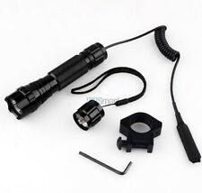 CREE T6 LED 1000LM Tactical Flashlight With Mount Pressure Switch F Picatinny AR