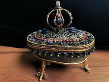5.5'' Nepal tibet Rock Crystal Quartz inlay silver Turquoise coral gem bowl
