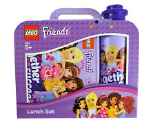 Lego Friends 'Lavender' School Lunch Box And Water Bottle Set Brand New Gift