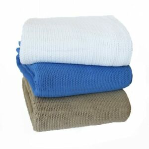 BRAND NEW Commercial Cellular Cotton Blanket 350gsm Single Double Queen King