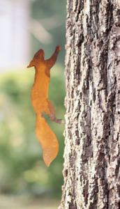 Eichhörnchen Baumstecker Edelrost | Gartendeko aus Metall | 35 cm | Rost Figur