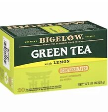 Bigelow Decaffeinated Green Tea with Lemon 20 Count 💯 % USA 🇺🇸 Mas. (2 Pack)