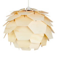 Alcachofa de madera estilo Retro Funky moderna lámpara de techo colgante luz cortina luces