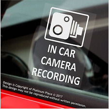 4 x In Car Camera Recording Window Stickers-CCTV Security Signs-Go Pro Dashcam