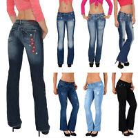 Pantaloni donna tipo jeans pinocchietto pizzo nero azzurro