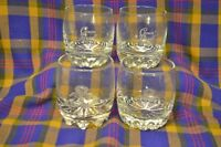 "Lot of 4 Vintage 8 oz CROWN ROYAL ""On the ROCKS"" Bottom Whiskey Glasses"