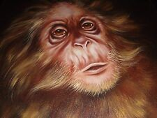 Original Painting Of A Orangutan