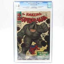 AMAZING SPIDER-MAN #41 CGC 8.0  GRADED 1ST RHINO APPEARANCE