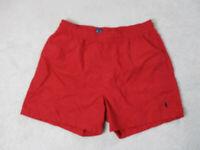 VINTAGE Ralph Lauren Polo Swim Trunks Adult Large Red Blue Shorts Men 90s A39