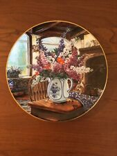 """Flower plate """"Morning Sunshine�, Glenna Kurz, Limited Edition, Country Bouquets"""