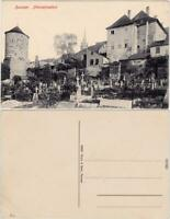 Bautzen Budyšin Nikolaifriedhof Ansichtskarte  1918