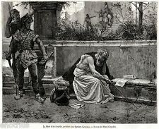 Morte di ARCHIMEDE DI SIRACUSA. Matematico.Astronomo.Fisico.+ Passepartout.1877